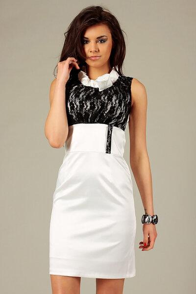 cc21099ccf Letnia sukienka imitująca len z paskiem